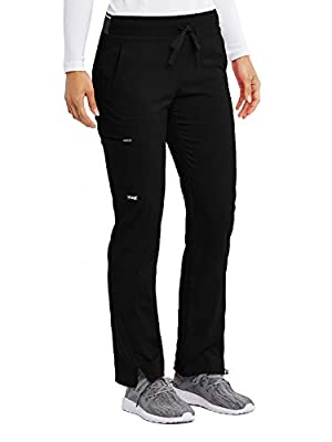 Grey's Anatomy Stretch GRSP500 Women's Kim Cargo Scrub Pant Black LP