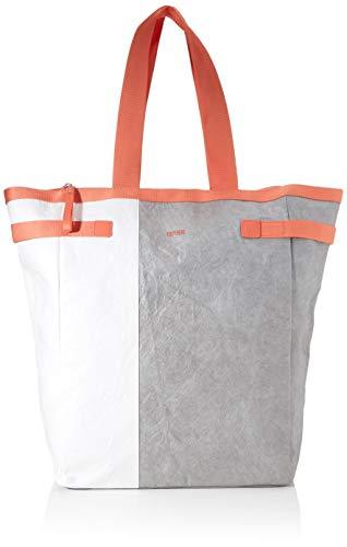 BREE Unisex-Erwachsene Vary 6, Grey/White/Sunset, Tote S20 Schultertasche Grau (Grey/White/Sunset)