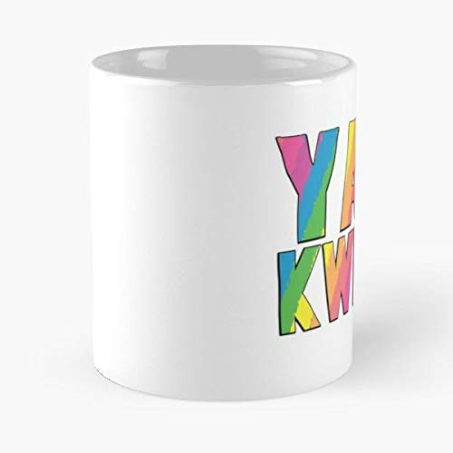 Yas Kween Queen Rainbow Letters Classic Mug - Ceramic Coffee White (11 Ounce) Tea Cup Nursing Appreciation Gifts For Nurse Practitioner-hinpeste