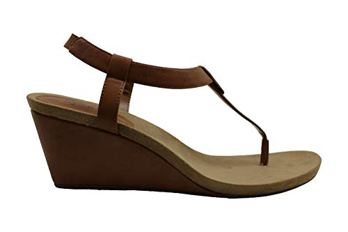 Price comparison product image Style & Co. Womens Mariella Open Toe Casual Slingback Sandals,  Brown 2,  Size 9.5
