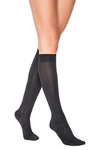 Women's Maternity Sheer Moderate Support Socks (black, medium)