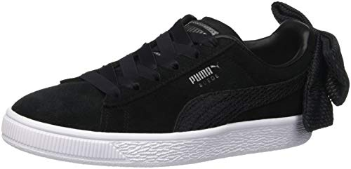 Puma Damen Suede Bow Sneaker, Schwarz Black White 01, 40.5 EU