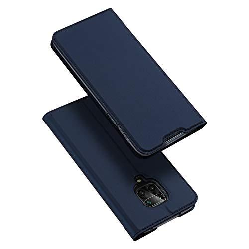 DUX DUCIS Hülle für Xiaomi Redmi Note 9S, Redmi Note 9 Pro Hülle, Leder Klappbar Handyhülle Schutzhülle Tasche Hülle mit [Kartenfach] [Standfunktion] [Magnetisch] (Blau)