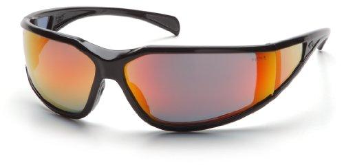 Pyramex Safety Exeter SB5155DT Antibeschlagbeschichtete Schutzbrille mit rot verspiegelten Sichtscheiben im sportlich attraktiven Design