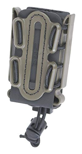 G-CODE (OD Green on Black) Soft Shell Scorpion -Short- Pistol Mag Carrier with P2 Operator Belt Mount Clip 100% Made in The USA (1153-4B)