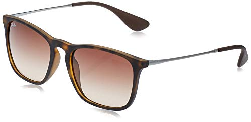 Ray-Ban Unisex Rb4187 Sonnenbrille, Braun (Gestell: braun (Havana), Gläserfarbe: braun verlauf 856/13), Medium (Herstellergröße: 54)