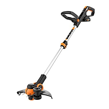 Worx WG163 GT 3.0 20V Cordless Grass Trimmer/Edger with Command Feed, 12 , 2 Batteries and Charger Included