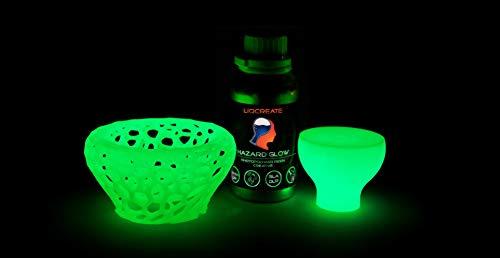 LIQCREATE HAZARD GLOW 1L - Résine SLA/DLP pour imprimante 3D (compatible Formlabs) parfait pour ajouter une 4ème dimension à vos prototypes