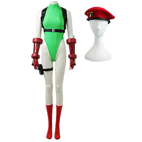 EChunchan Street Fighter 5 Cammy White Cosplay Costume Cammy White Costume Halloween Costume Suit (Female S)