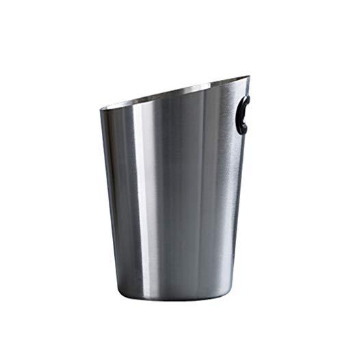 YITIANTIAN Cubo de Hielo de Barra Cubo de Hielo de Acero Inoxidable con Clip portátil Bucket Bucket Bucket Champagne Bucket Beverage Bucket Fiesta de Actividades y vajillas de Camping Cubo de Champán