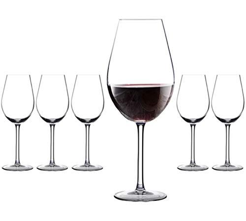 Vicrila - Copas de Vino Degustación 470 ml - Pack de 6 - Cristal Templado - Apto para Microondas y Lavavajillas