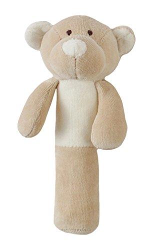 Woolly Bio Teddy jouet Hochet doux (3 mois de plus, Beige)