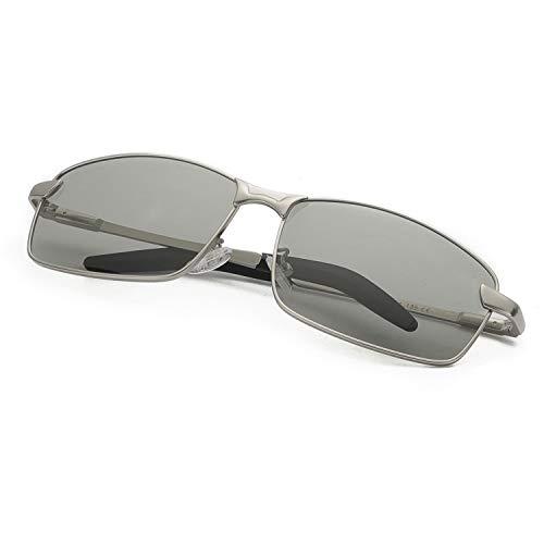 Enafad Gafas Fotocromaticas con Estructura Metálica-Gafas de Sol Hombre Polarizadas Protección 100% UV