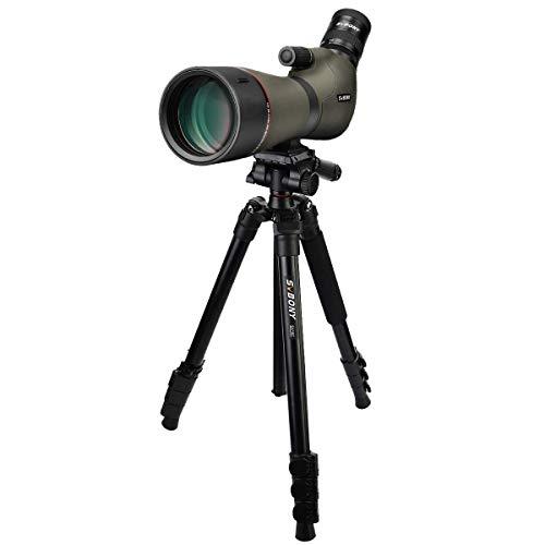 SVBONY SV46 20-60x80 Spotting Scopes with Tripod, HD Dual Focusing Spotting Scope, IPX7 Waterproof Spotter Scope,Angled Long Range Sporting Scopes Telescope for Wildlife Birding Target Shooting