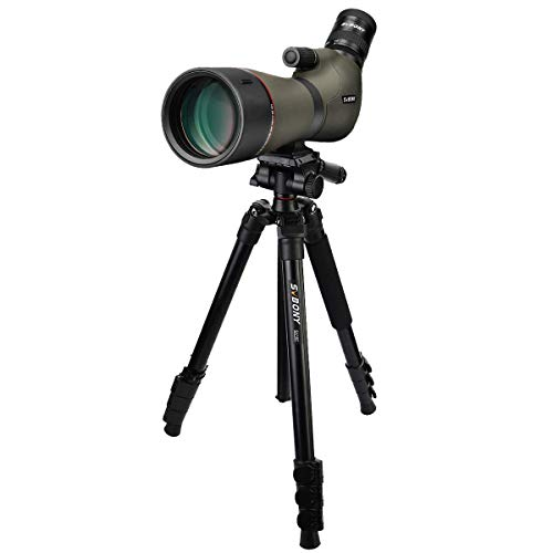 SVBONY SV46 Spotting Scopes for Target Shooting,HD,Dual Focus,with Tripod Heavy Duty,20-60x80,IPX7 Waterproof,Long Range Scopes Case for Hunting,Stargazing,Bird Watching