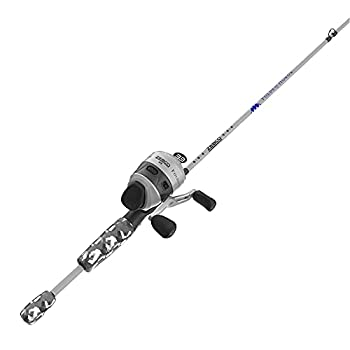 Zebco 33 Folds of Honor Spincast Reel and 2-Piece Fishing Rod Combo 6-Foot Fiberglass Rod Quickset Anti-Reverse Fishing Reel with Bite Alert 1 Dollar Donated to Folds of Honor Foundation