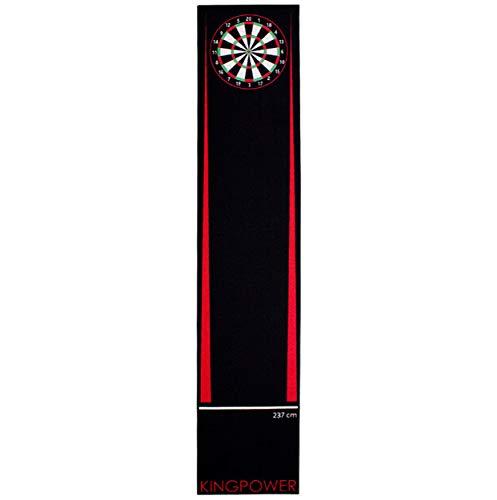 Kingpower Dart Teppich Rot Target Oche Matte Steeldart Dartpfeile Dartboard Zubehör Dartteppich Darts Abwurflinie Schutz Gummi Boden Dartscheibe 290 x 60 cm