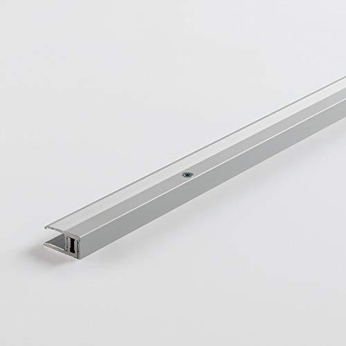 Parador Werkzeug Abschlussprofil Aluminium Silber für Vinyl/Laminat Bodenbeläge 7-15 mm
