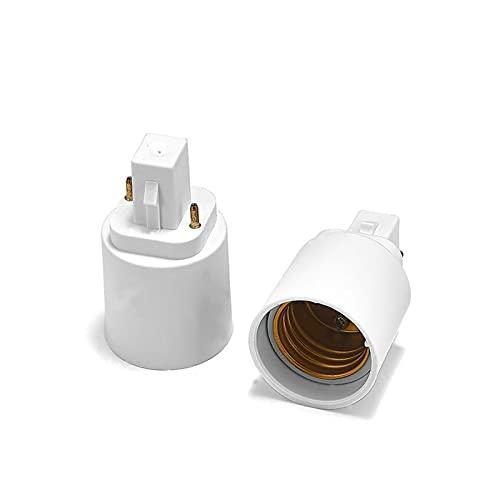 YSJJAXR Soporte de lámpara 2Pin G24 a E27 Soporte de lámpara Adaptador G24D a E26 Convertidor de Base LED LED, le Permite Instalar la lámpara estándar E27 en el zócalo G24D