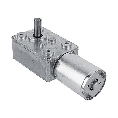 Akozon DC 12V Alto par Caja de cambios con motorreductor turbo Motor de reducción de 100 RPM Motorreductor helicoidal de alta torsión