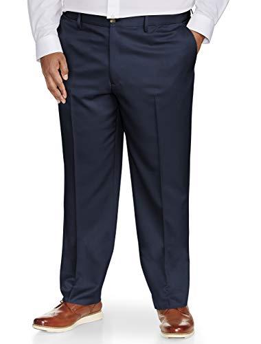 Amazon Essentials Men's Big & Tall Classic-Fit Wrinkle-Resistant Flat-Front Dress Pant, Navy, 48W x 28L