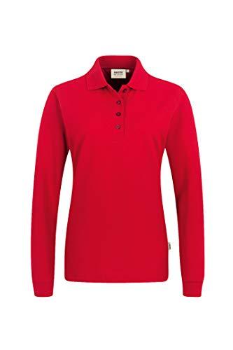 Women-Longsleeve-Poloshirt Performance, Rot, S