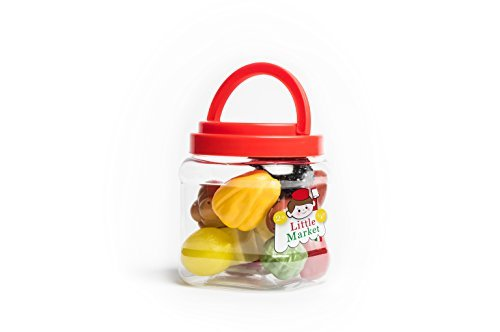 Simba Learn and Play Little Market Mixed Food Pretend Spielzeug, 14-teilig