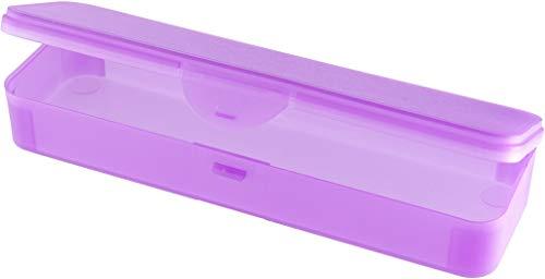 Hygiene-Box Kundenbox Feilenbox Arbeitsmaterial-Box lila transparent 220x65x35 mm LxBxH