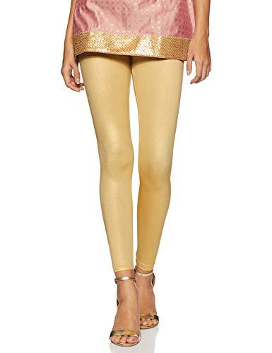 global desi Women's Leggings (CO15LEGSHMGOLDXL_Gold_XL)