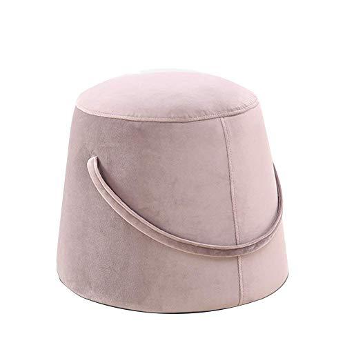 JXJ Taburete de bambú taburete de trabajo taburete de tela para el hogar portátil sofá cambio de puerta zapatos taburete multifunción hogar creativo (color : beige, tamaño: grande)