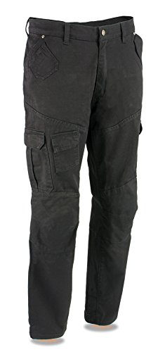 Milwaukee Leather Performance MPM5590 Men's Black Armored Black Cargo Jeans Reinforced with Aramid by DuPont Fibers - 42