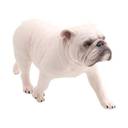 NUOBESTY Bulldog Figurine PVC Dog Figure Table Desk Animal Collectible Statue Decorative Party Animal Model Favor (Walking Bulldog)