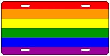 Rogue River Tactical LGBT Rainbow Flag License Plate Novelty Auto Car Tag Vanity Gift Gay Lesbian Pride Trans Bi