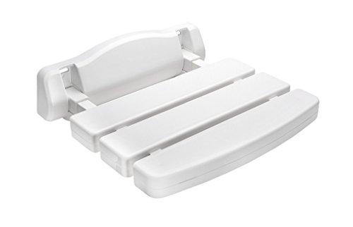 Teckmedi Duschklappsitz Deluxe Sicherheitssitz Wandstuhl Klappstuhl Duschhilfe Sitzhilfe zur Wandmontage