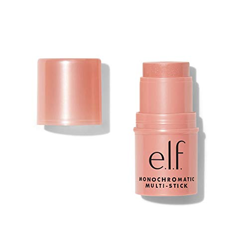 e.l.f., Monochromatic Multi Stick, Creamy, Lightweight, Versatile, Luxurious, Adds Shimmer, Easy To Use On The Go, Blends Effortlessly, Glistening Peach, 0.155 Oz
