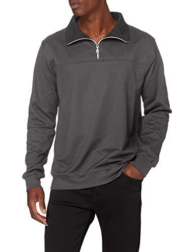 Trigema Herren 674801 Sweatshirt, Grau (anthrazit 018), XXX-Large (Herstellergröße: XXXL)