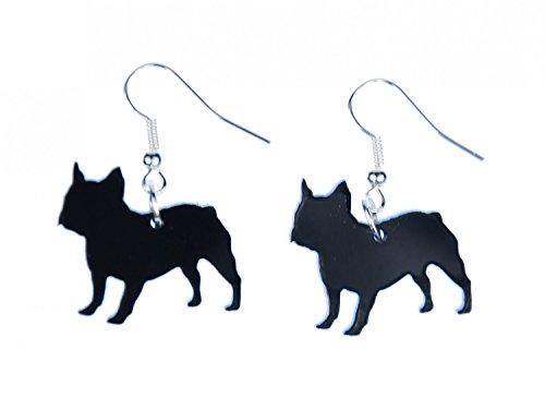 pendientes amasado percha Miniblings perro amante de los animales Bulldog...