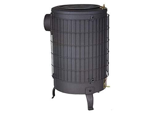 teca No. 3–Numero 3senza griglia riscaldante tubo 100mm nero