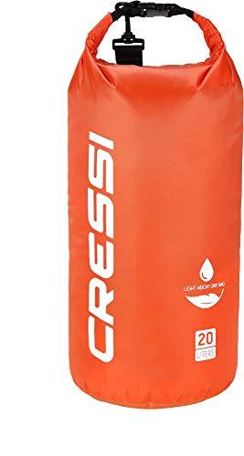 Cressi Dry Bag, Sacca/Zaino Impermeabile per attività Sportive Unisex-Adulto, Arancio, 10 L