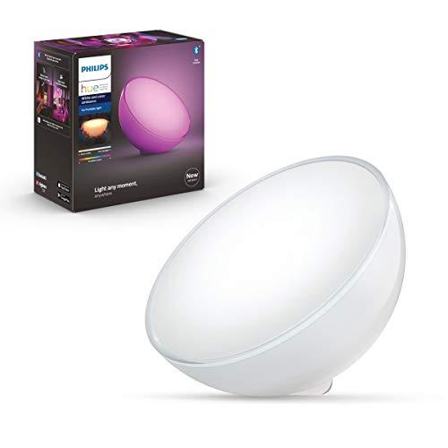 Philips Hue Go ポータブルライト Bluetooth + ZigBee スマートライトフルカラー照明 調光 調色 間接照明 目覚ましライト テーブルランプ ナイトライト ベッドサイドランプ 授乳ライト キャンプライト 快眠グッズ