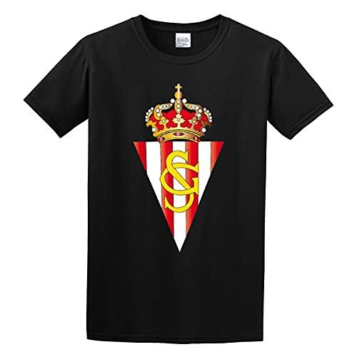 Sporting De GijÓN Customized tee O Neck Men Shirt 3XL, Black