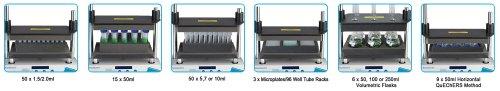 Benchmark Scientific BV1010-V250 Volumetric Flask Rack for BenchMixer XL Multi Tube Vortex Mixer, 8 x 250ml Tube