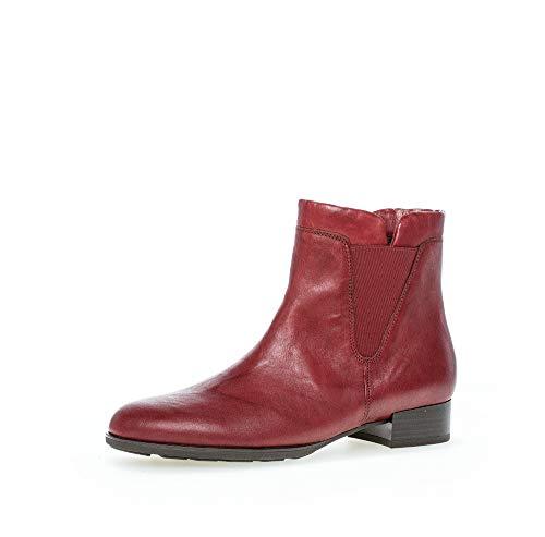 Gabor Damen Chelsea Boots, Frauen Stiefeletten,Wechselfußbett,Hovercraft-Luftkammersohle,Best Fitting,Dark-red,38.5 EU / 5.5 UK