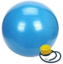 Pro Solid Anti-Burst Gym Ball With Foot Pump - 75 cm, Blue