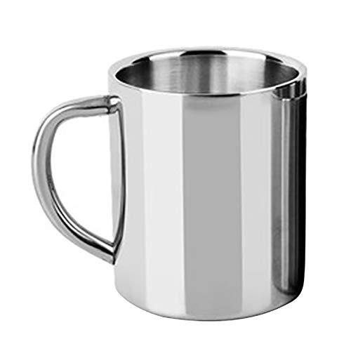 Kalaokei Taza portátil de acero inoxidable de 220/300/400 ml de viaje para café, té, agua potable taza de viaje portátil taza 1# 400 ml