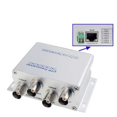 GJPAJGID bewakingscamera 4 BNC kanaal naar RJ45 CCTV UTP Passieve Video-ontvanger