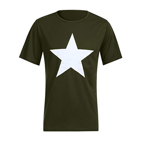 Xmiral T-Shirt Girocollo Semplice T Shirt Maglia Maglietta Idea Regalo T-Shirt Maglietta Uomo T-Shirt Uomo XL Army Green