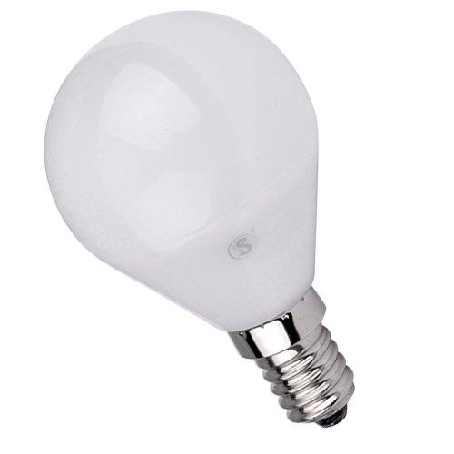 Lámpara Bombilla ESFERICA LED 5W E14,Color de Temperatura 6500K Fría ,Dimensiones: Ø45X80mm