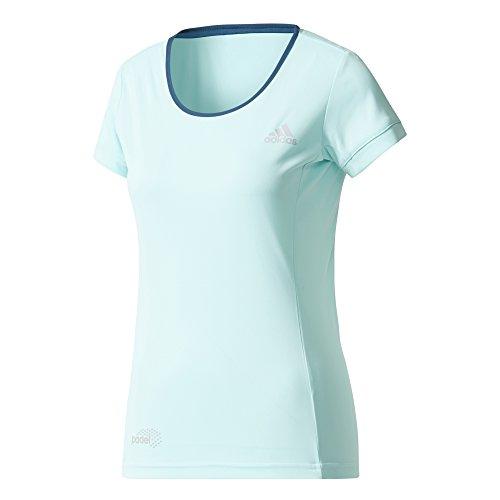 adidas Court tee Camiseta de Tenis, Mujer, Azul (Aquene/petnoc/Onicla), S