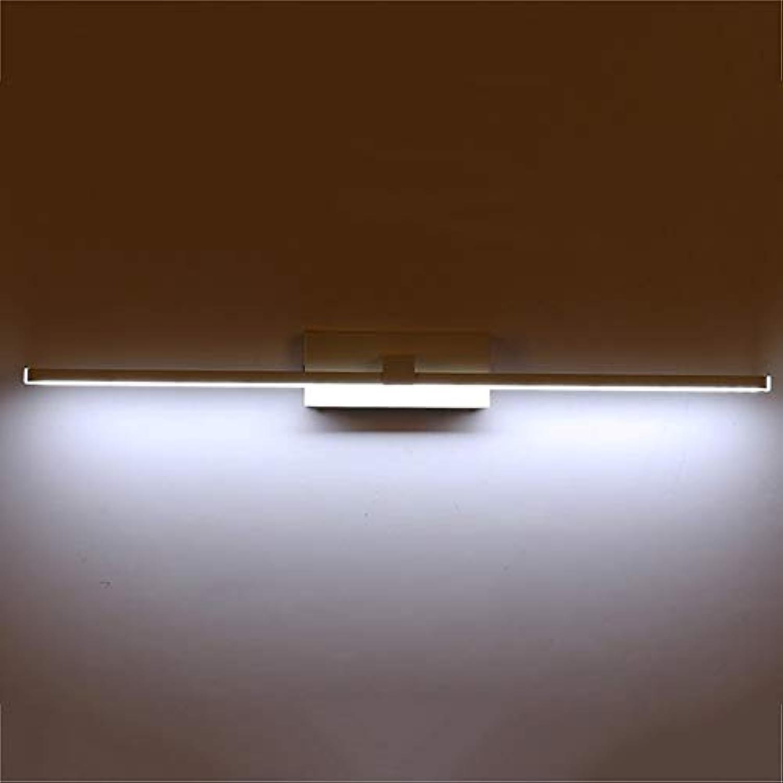 CANCUI LED Acryl Spiegel-leuchte,Wei Wasserdicht Design Metall Spiegel-leuchte Schminktisch Wandleuchte-Weies Licht F 100x11cm(39x4inch)
